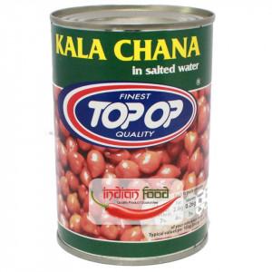 TopOp Boiled Kala Chana (Naut Maro cu Coaja Fiert Conservat) 400g