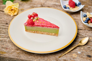 Matcha Raspberry Cake