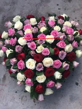 Poze Coroane Funerare Bucuresti Inima Trandafiri Asortati