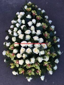 Poze Coroane Funerare Orhidee Inperiala Si Trandafiri