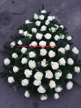 Poze Coroana Funerara Trandafiri Albi