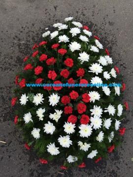 Poze Coroana Funerara Bucuresti Garoafe Si Crizantema