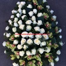 Coroane Funerare Orhidee Inperiala Si Trandafiri