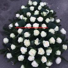 Coroana Funerara Trandafiri Albi