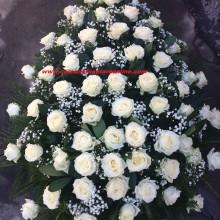 Coroane Funerare Trandafiri Albi