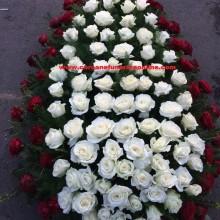 Coroane Funerare Online Trandafiri Albi Cu Rosu