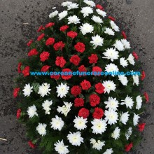 Coroana Funerara Bucuresti Garoafe Si Crizantema