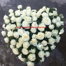 Coroane Funerare Inima Trandafiri  Albi