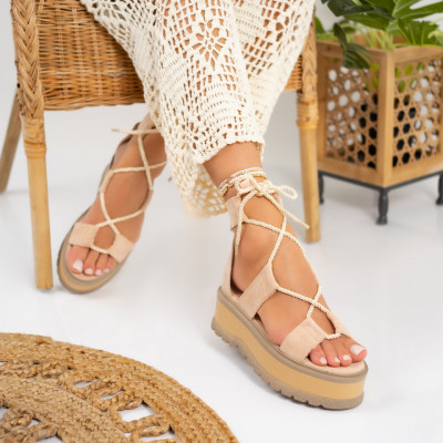 Sandale cu platforma cod: S6605