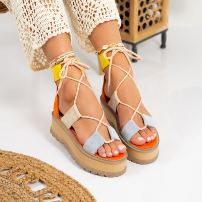Sandale cu platforma cod: S6606