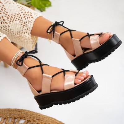 Sandale cu platforma cod: S6536