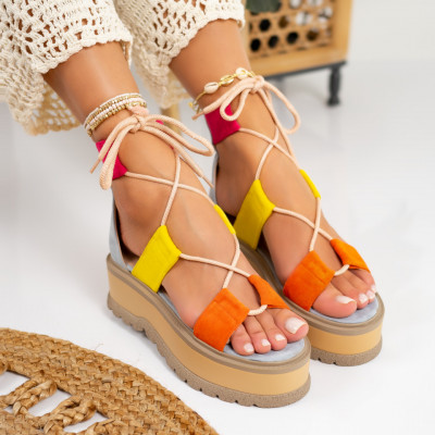 Sandale cu platforma cod: S6540
