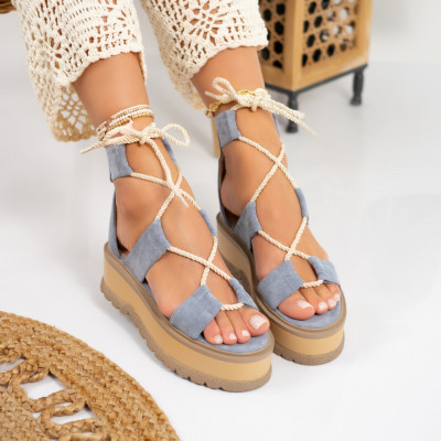 Sandale cu platforma cod: S6604