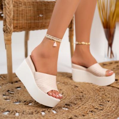 Papuci cu platforma cod: P6527
