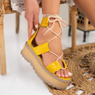 Sandale cu platforma cod: S6531