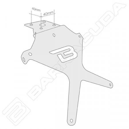Suport de numar Barracuda universal reglabil