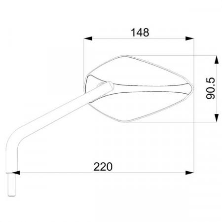 Oglinzi retrovizoare BARRACUDA X-VERSION (set)