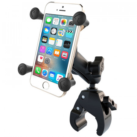 RAM® X-Grip® Phone Mount with RAM® Tough-Claw™ Small Clamp Base