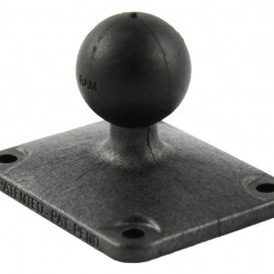 """RAM® Composite Ball Base with 1.5"""" x 2"""" 4-Hole Pattern"""