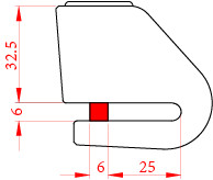 Lacat de disc Kovix Mini KN1, Bolt 6 mm