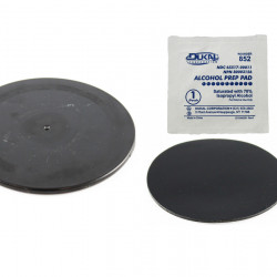 """RAM® Black 3.5"""" Adhesive Plate for Suction Cups"""