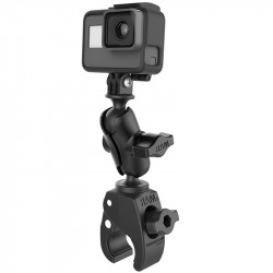 RAM® Tough-Claw™ Small Clamp Mount with Universal Action Camera Adapter