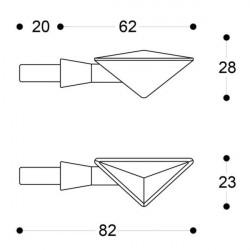 Semnalizatoare BARRACUDA Z-LED B-LUX (set)