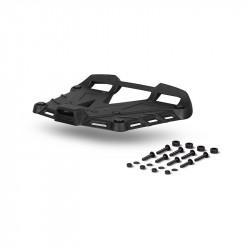 Top case standard plate SHAD TERRA aluminium Negru