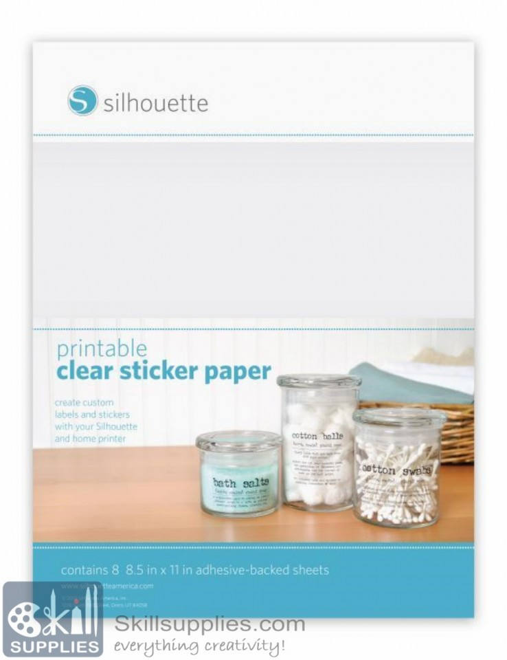 graphic about Clear Printable Labels titled Get Printable very clear stickerpaper on the web within India