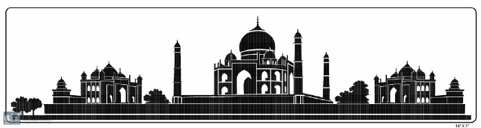Buy Building Amp Monument Stencil Tajmahal Online In India