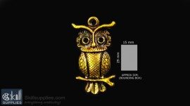 Antique gold finish Owl 2