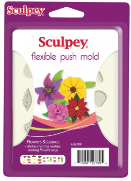PolymerClay Mold Flowers&Leaves images