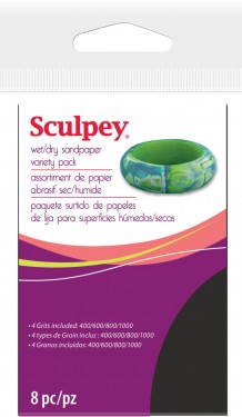 Sculpey Wet Dry Sandpaper Variety Pack images