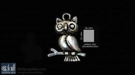 Silver Finish Owl