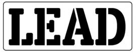 Words Stencil - Lead