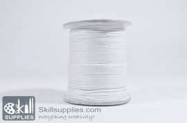 Cotton cord 1mm white, 10 mts images