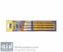 Craftpaint Brush Set 5 Flat