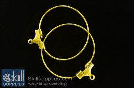 Hoops large size  ER18 ,4 pcs   gold images