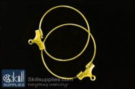 Hoops large size  ER18 ,4 pcs   gold