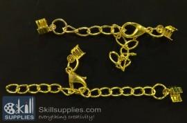 Lobster chain  2 EN14 ,4 pcs  gold