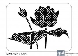 Nature Stencil Water Lily NA010 images