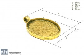 Pendant Tray26 Gold