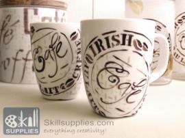 Porcelain Calligraphy pen Black