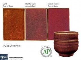Pottery High Fire Glaze PC-55 Chun Plum images