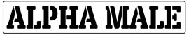Words Stencil - Alpha male