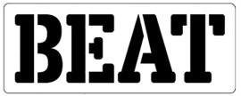 Words Stencil - Beat