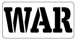 Words Stencil - War