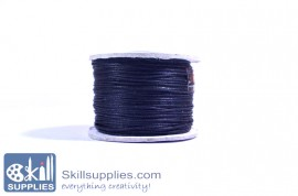 Cotton cord 0.5mm black ,10 mts