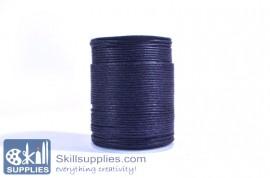 Cotton cord 1mm black,10 mts