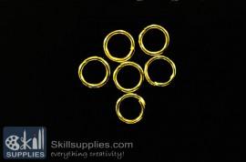 Jump rings 8mm  EN2 ,20 gms  gold